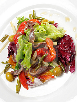 Salad With Anchovy Royalty Free Stock Image - Image: 8034516