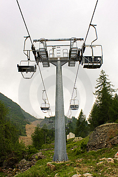 Chairlift In The Mountains Stock Photo - Image: 8034850