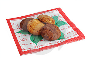 Cookies On Napkin Stock Photography - Image: 8036442