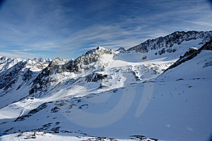 Alps Winter View Stock Photography - Image: 8036452