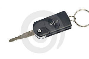 Auto Key Isolated On White Stock Photography - Image: 8036652