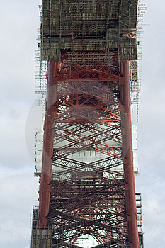 Scaffolding And Structure Of The Forth Rail Bridge Royalty Free Stock Photos - Image: 8036748