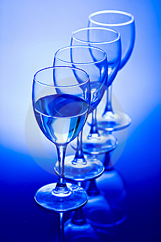 Glasses With Water Royalty Free Stock Photography - Image: 8037327