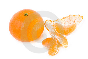 Tangerine And Segments Stock Photography - Image: 8038612