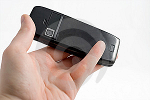 Hand Playing Mobile Phone Royalty Free Stock Photos - Image: 8038808