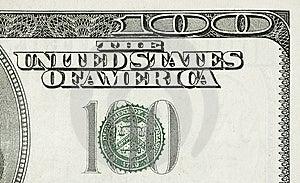 Honderd Dollarsdetail Stock Foto - Afbeelding: 8039830