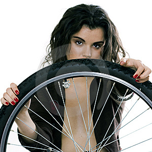 Bicycle Wheel Royalty Free Stock Images - Image: 8039919