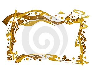 Frame Of Gold Stock Images - Image: 8040964