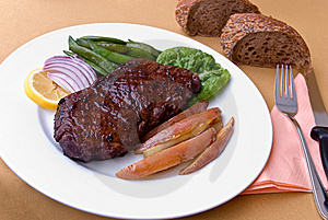 Roast Beef With Green Beans And Red Potatoes Stock Image - Image: 8041161