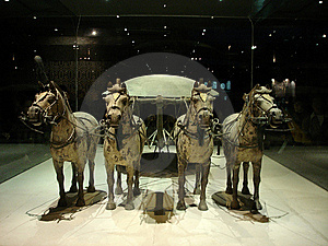 China's Terracotta Warriors And Horses Unearthed R Stock Image - Image: 8041481