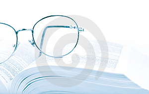 Glasses On The Open Book Stock Photo - Image: 8042140
