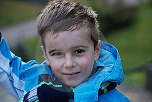 Boy In A Blue Jacket Stock Images - Image: 8042324