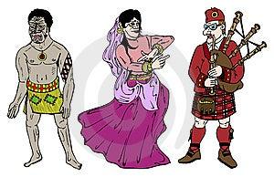 Moor, Dancer And Scotsman Stock Photo - Image: 8043830