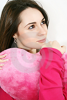 Woman With A  Heart Royalty Free Stock Image - Image: 8044106