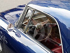 Old Blue Car Royalty Free Stock Images - Image: 8044499