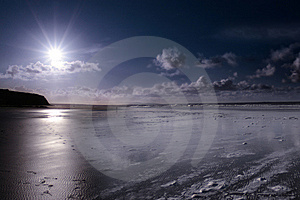 Storm Beach Royalty Free Stock Images - Image: 8044919