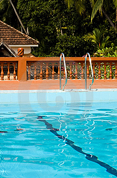 Swimming Pool In Indian Holiday Resort Stock Photos - Image: 8045273