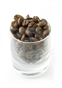 Coffe Beans In Glass Royalty Free Stock Photography - Image: 8045427