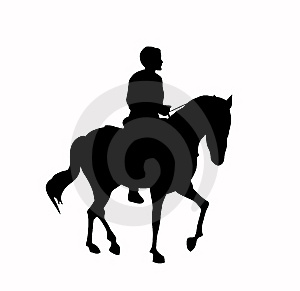 Silhouette Of The Rider Royalty Free Stock Photography - Image: 8046627