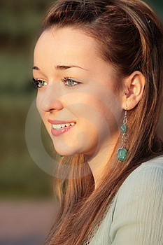 Beautiful Young Lady In Golden Light Of Summer Sun Stock Image - Image: 8046871