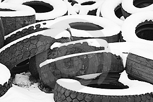 Heap Of Old Tires Stock Photos - Image: 8047373