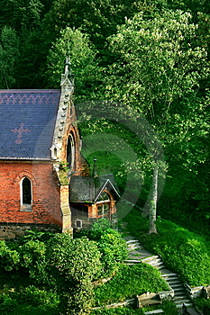Medieval English Church In Prague Royalty Free Stock Photos - Image: 8047738