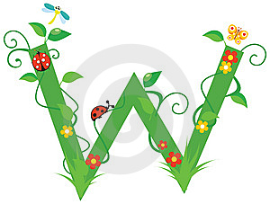 Letter W Royalty Free Stock Photo - Image: 8048475