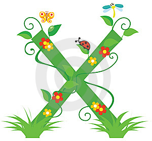 Letter X Royalty Free Stock Images - Image: 8048479