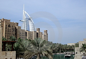 Dubain Hotel Burj Al Arab And Palms Stock Image - Image: 8049321