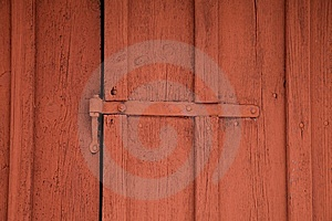 Detail Of A Red Shed Stock Photo - Image: 8049930
