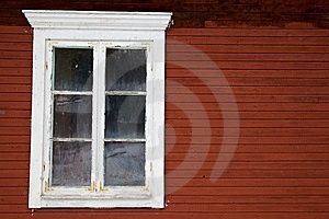 Window Red Wall Royalty Free Stock Photo - Image: 8050175