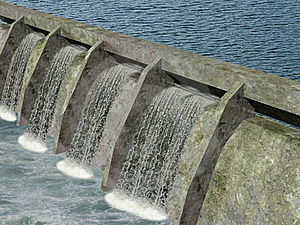 Dam With Water Flowing Stock Images - Image: 8050834