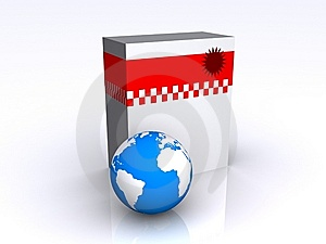 Software Box Stock Image - Image: 8051121
