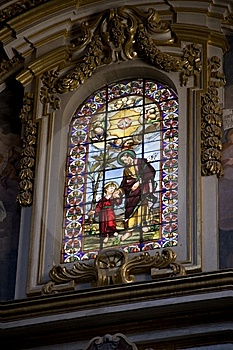 Maltese Church Window Royalty Free Stock Image - Image: 8051406