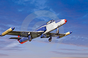 Old Time Jet Fighter Royalty Free Stock Image - Image: 8051816