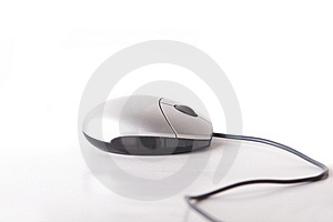 Mouse With Cable Royalty Free Stock Photos - Image: 8051848