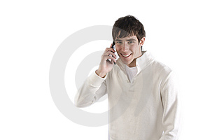 Young Man Talking On Phone Stock Image - Image: 8053271