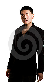 Asian Young Man In Suit Royalty Free Stock Images - Image: 8053329