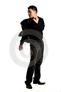 Stylish Asian Young Man Stock Image - Image: 8053341