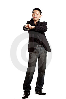 Stylish Asian Young Man Stock Image - Image: 8053351