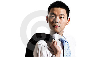 Asian Young Man In Formal Attire Stock Photos - Image: 8053373