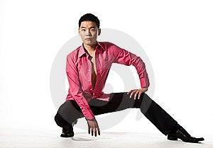 Homem Novo Asiático No Vestuário à Moda Imagem de Stock Royalty Free - Imagem: 8053436