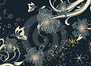 Floral Abstract Background. Stock Photo - Image: 8054960