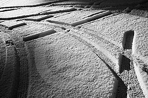 Snow Covered Parking Place Stock Photos - Image: 8055243
