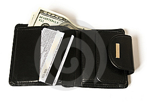 Black Billfold With Dollars Royalty Free Stock Photos - Image: 8057448