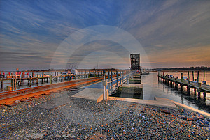 Train Tracks And Bridge HDR Royalty Free Stock Photography - Image: 8057707