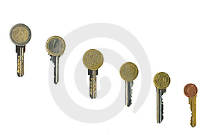 Cash Latchkeys To Financial Success And Stability. Stock Photos - Image: 8058013