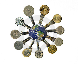 Cash Latchkeys To Financial Success And Stability. Royalty Free Stock Photos - Image: 8058158