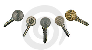 Cash Latchkeys To Financial Success And Stability. Royalty Free Stock Photo - Image: 8058165
