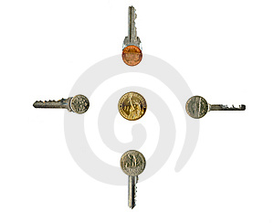 Cash Latchkeys To Financial Success And Stability. Royalty Free Stock Photo - Image: 8058185